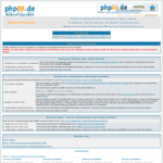 Screenshot: phpBB Update-Hilfe